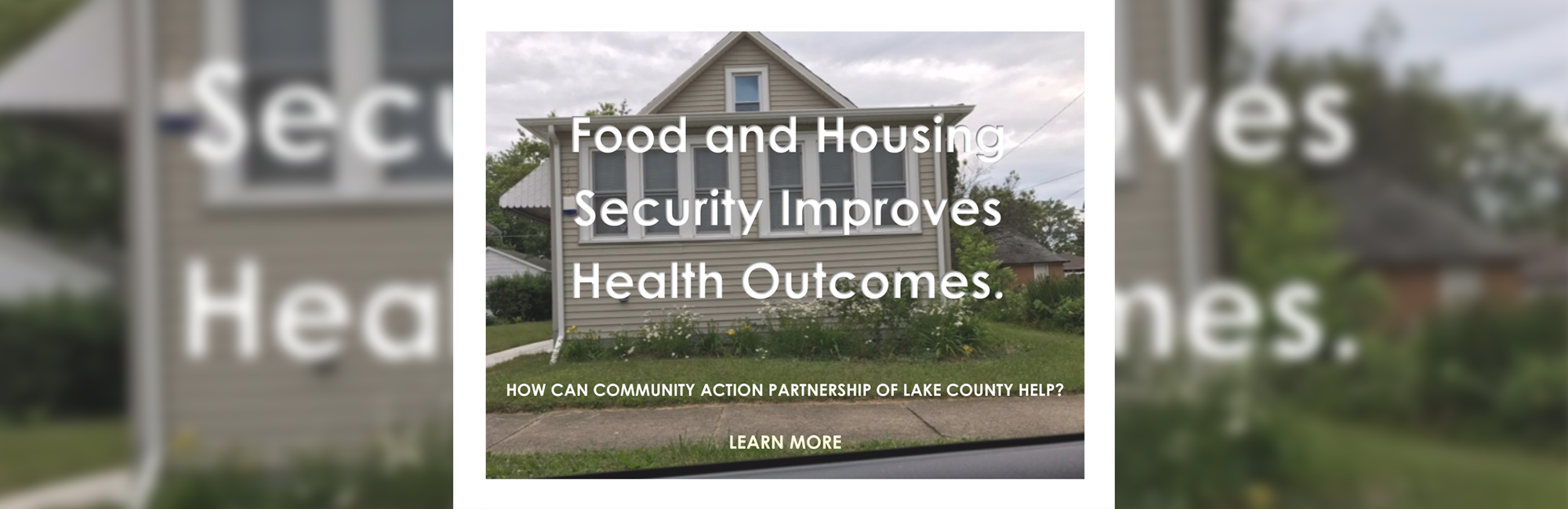 Food and Housing Security Improves Health Outcomes